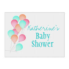 baby shower sign baby shower yard lawn signs zazzle