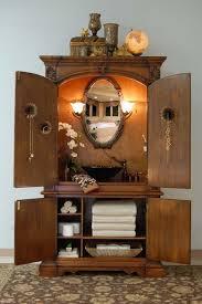 Antique Bathrooms Designs Antique Bathroom Vanity With Black Marble Vessel Sink And Linen