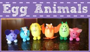 easy easter craft for kids plastic egg animals youtube