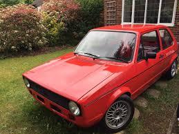 1981 volkswagen mk1 golf gti tintop in mars red in wokingham