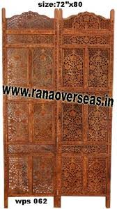 Zig Zag Room Divider Wooden Partition Screen Developed From High Quality Sheesham Wood