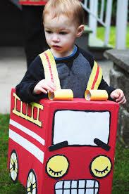 Cardboard Fire Truck Costume Darling Arlo