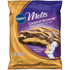 pillsbury melts refrigerated cookies caramel brownie filled