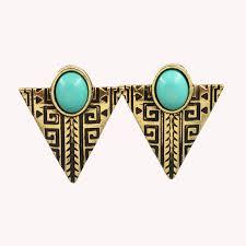 triangle earrings gem vintage triangle earrings justbuylah