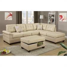 Reversible Sectional Sofas by Poundex Bobkona Randel 2 Piece Reversible Sectional Sofa In Khaki