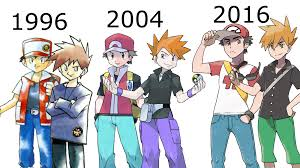 red and blue green over the years pokémon know your meme