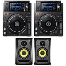 krk home theater pioneer dj xdj 1000mk2 pair bundle with 2 free krk rockit rp4g3