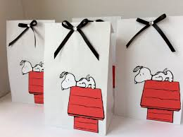snoopy the peanuts favor paper bags birthday