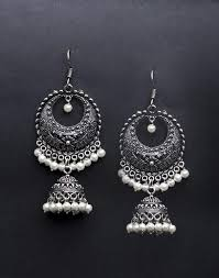 jhumka earrings buy metal amna em 2016 jhumka earrings online in india at cooliyo