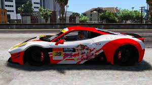 widebody ferrari ferrari 458 widebody itasha livery gta5 mods com