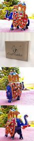 Animal Figurines Home Decor Craftvatika Elephant Statue Handpainted Animal Figurine Metal