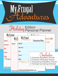 free printable thanksgiving and planning guide my frugal