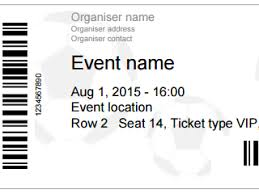 ticket template free templates event ticket
