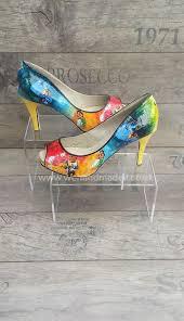 disney princess shoes decoupage paint glitter style