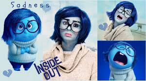 Makeup For Halloween Costumes by Sadness Tutorial From Inside Out Makeup Wig U0026 Diy Costume For