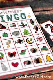 Printable Halloween Bingo Game by Free Christmas Bingo Game Printable