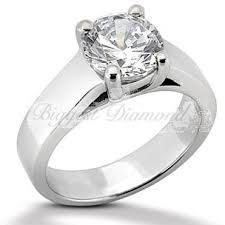 wide band engagement rings cut 0 75 2 5 carat diamond solitaire engagement ring in