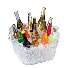 Oval Party Beverage Tub by Wine Champagne Beverage Ice Tub Bucket Beer Chiller Bucket Bottle