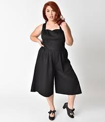 plus size black jumpsuit unique vintage plus size 1950s style black wide leg promenade jumpsuit