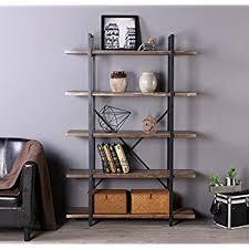 bookshelves metal amazon com tribesigns 5 tier bookshelf free standing bookcase