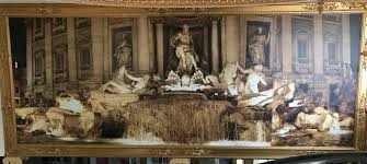 wall murals as framed large art prints decorating with wallpaper huge 8 x 20 trevi fountain wall mural in a gilded frame