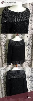 cato sweaters cowl neck black sweater cato