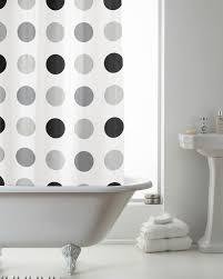 Peva Shower Curtains Peva Shower Curtain Mono Spots Grey Black By Beamfeature Amazon