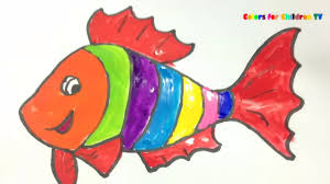 colors for children 82 how to draw turtle with fish colouring