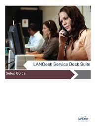 Landesk Service Desk Training Landesk Service Desk Suite Setup Guide
