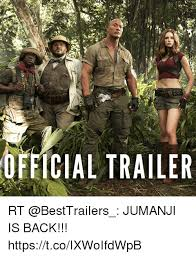 Jumanji Meme - official trailer rt jumanji is back httpstcoixwoifdwpb meme on