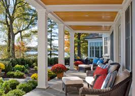 exterior design fall front porch ideas with porch columns and