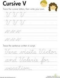 slideshow cursive handwriting practice worksheets a z kids