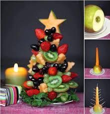 ideas diy fruit and vegetable christmas tree