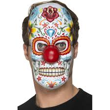 day of the dead masks day of the dead clown mask party mania