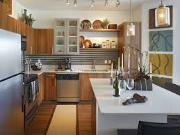 open shelves kitchen design ideas small kitchen open shelving stainless steel stove and oven brown