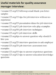 Quality Assurance Sample Resume by Top 8 Quality Assurance Manager Resume Samples