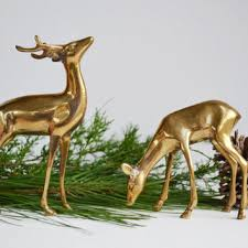 White Stag Christmas Decorations by Shop Vintage Reindeer Christmas Decorations On Wanelo