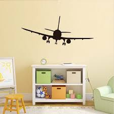 airplane home decor dctop vinyl removable commercial airliner wall decals home decor