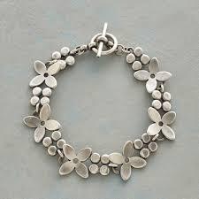 flower silver bracelet images Sterling silver flower bracelet robert redford 39 s sundance catalog tif&a