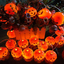 halloween lights pumpkin shape string lights 10 20 led solar lamp