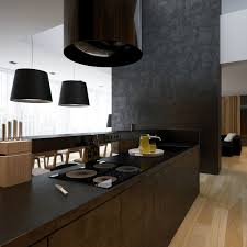 Kitchen Built In Cabinets Black Modern Kitchen A Intended Decorating Ideas