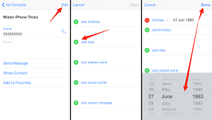 how to set birthday alerts on your iphone