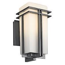 Kichler Lighting Outdoor Tremillo 1 Light Outdoor Wall Light In Black