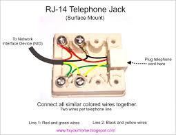 home telephone wiring diagram