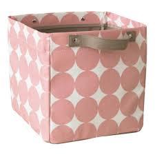 aufbewahrungsbox kinderzimmer aufbewahrungsbox klein dots petal in rosa dwellstudio