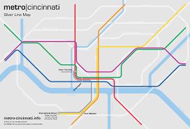 Metro Map Silver Line by Metro Cincinnati Silver Line