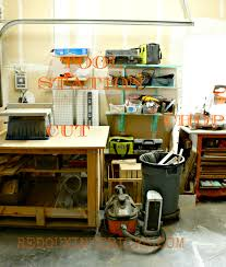 garage organized using junk