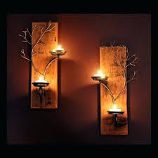 Iron Candle Wall Sconce Sconce Gold Metal Candle Wall Sconces Wrought Iron Candle Wall
