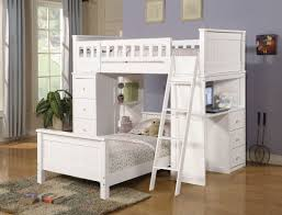 Bunk Bed With Dresser White Loft Bed