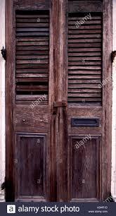 Wooden Door Old Rustic Wooden Door In The French Quarter Of New Orleans Usa
